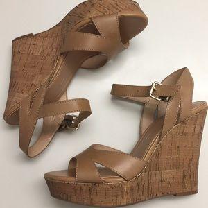 Banana Republic cork wedge sandals sz8